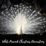 White Peacock Christmas Decorations