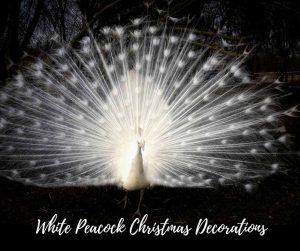 White Peacock Christmas Decorations 2018 – White Peacock Christmas Tree Ornaments, White Feather Christmas Decorations – Ideas For White Peacock Themed ...