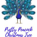 peacock Christmas tree ornaments