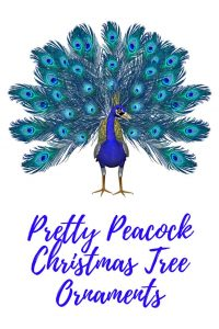 peacock christmas tree ornaments - Peacock Themed Christmas Tree