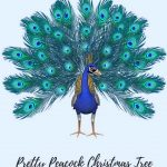 peacock christmas tree decorating ideas