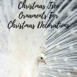 white peacock christmas tree ornaments