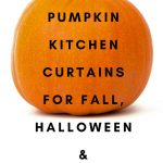 pumpkin kitchen curtains