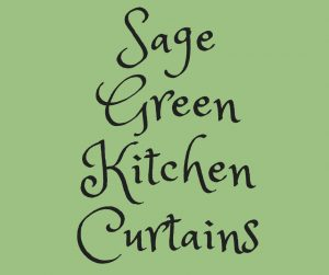 sage green kitchen curtains ideas