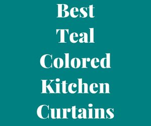 Teal Color Kitchen Curtains
