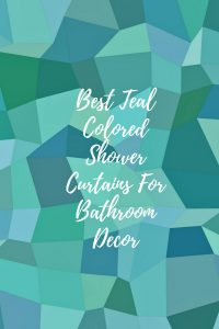 teal color shower curtains