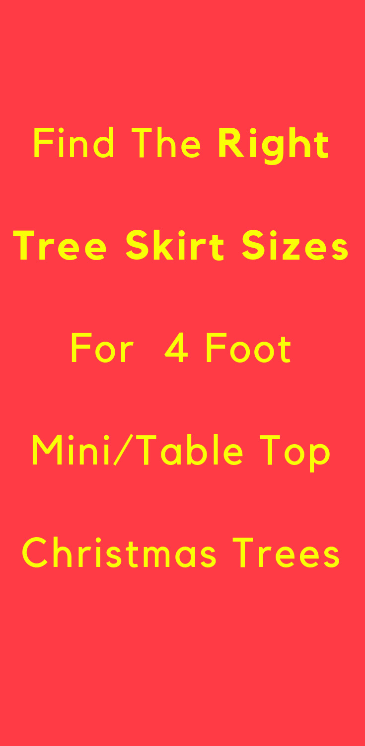 what size tree skirt for mini tabletop trees