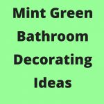 mint green bathroom accessories