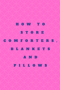 how to store comforters and blankets