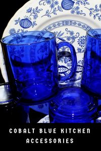 Cobalt Blue Kitchen Accessories For Themed Decorations Bright Colorful Decor Ideas