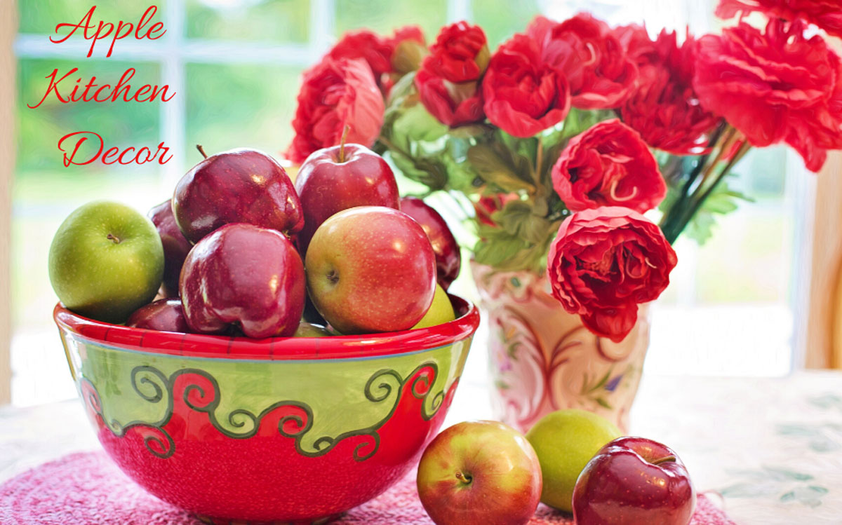 apples and flowers decorations